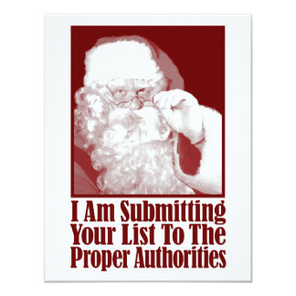 Santa, Your Christmas List, and The Authorities Announcement