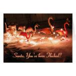 Santa, You've been Flocked!! Cards