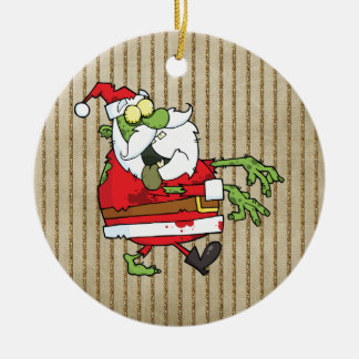 Santa Zombie Christmas Ornament