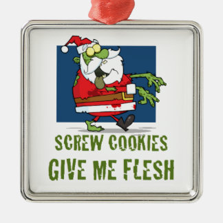Santa Zombie Cookies Christmas Ornament