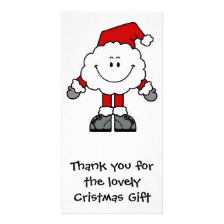 Santacloud Thanks Photo Greeting Card