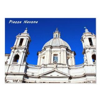 Santagnese in Agone Church in Piazza Navona, Rome 13 Cm X 18 Cm Invitation Card