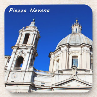 Santagnese in Agone Church in Piazza Navona, Rome Beverage Coaster