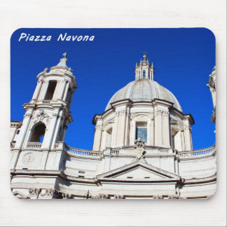 Santagnese in Agone Church in Piazza Navona, Rome Mouse Pad