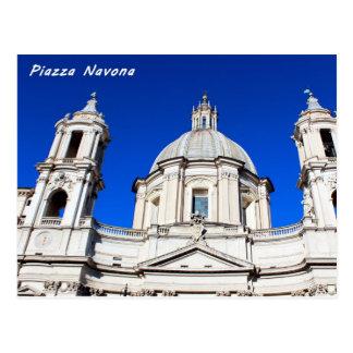 Santagnese in Agone Church in Piazza Navona, Rome Postcard