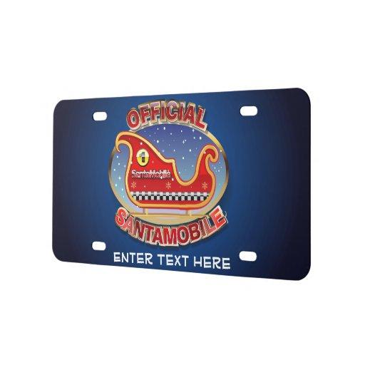 SantaMobile License Plate