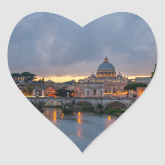 Sant'Angelo bridge Saint Peter Basilica Rome Italy Stickers