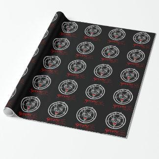 Santanist Pentagram Christmas Design Gift Wrap