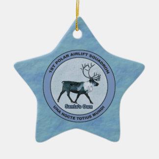 Santa's 1st Polar Airlift Sqdn - Subdued Christmas Ornament
