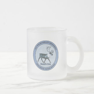 Santa's 1st Polar Airlift Sqdn - Subdued Frosted Glass Coffee Mug