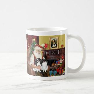 Santa's 2 Japanese Chin Basic White Mug