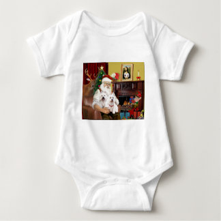 Santa's 2 Westies Baby Bodysuit