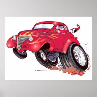 Santa's 39 Chevy poster