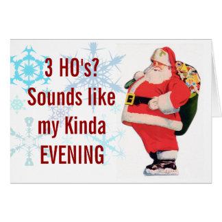 Santas 3 Ho's Christmas Card