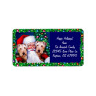 Santa's Airedale Terriers at Christmas Label
