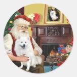 Santa's American Eskimo Dog