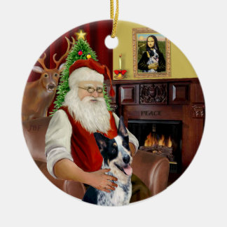 Santa's Australian Cattle Dog #1 Christmas Ornament