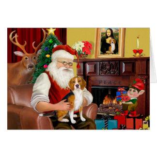 Santa's Beagle (#7) Greeting Card