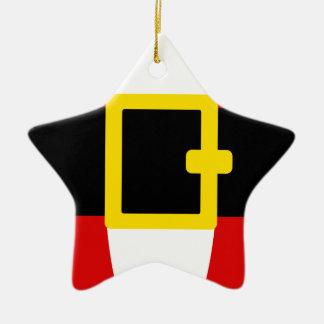 Santa's Belly Belt Christmas Day Design Ceramic Star Decoration