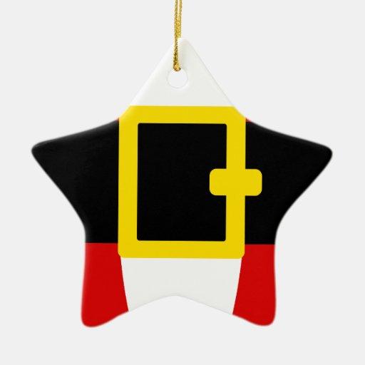 Santa's Belly Belt Christmas Day Design Christmas Tree Ornaments