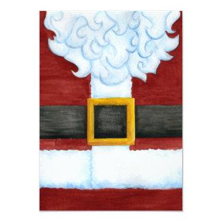Santa's Belly Invitation