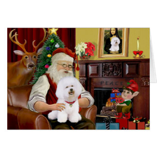 Santa's Bichon Frise (#1) Card