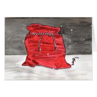 Santa's big bag card