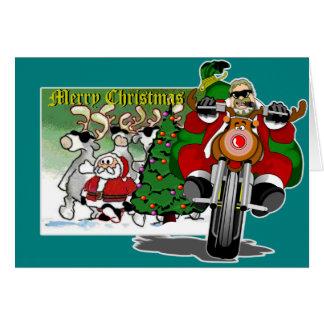 Santa's Biker Helper Bubba Claus Cards