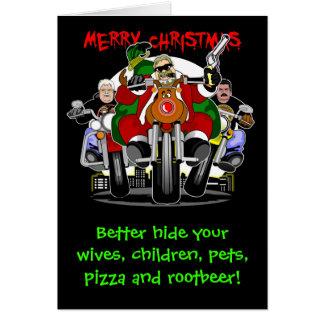 Santa's Biker Helpers Greeting Card