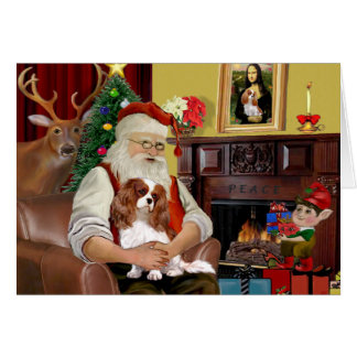 Santa's Blenheim Cavalier Card