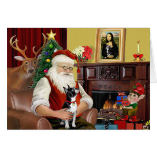 Santa's Boston Terrier Card
