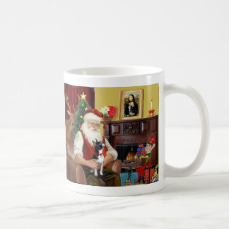Santa's Boston Terrier Coffee Mug