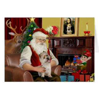 Santa's Cairn Terrier Card