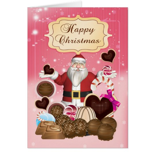 Santa's Candy Christmas Holiday Greeting Card