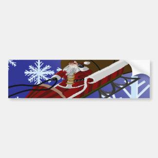 Santa's Card Bumper Sticker