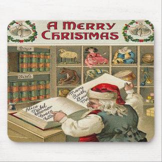 Santa's Checklist Mousepad