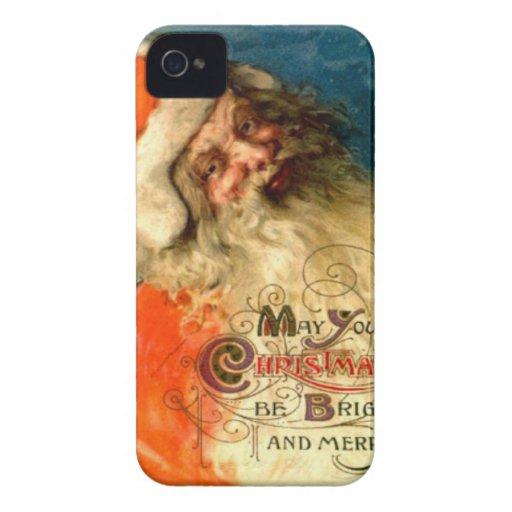 Santa's Christmas greetings iPhone 4 Cases