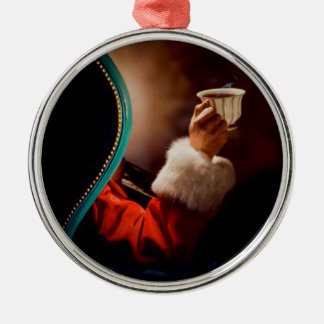 Santa's Coffee Break Vintage Christmas Ornament