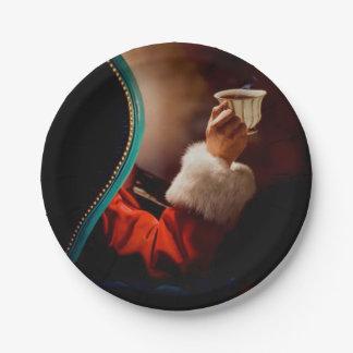 Santa's Coffee Break Vintage 7 Inch Paper Plate