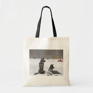 Santa's Coming Budget Tote Bag