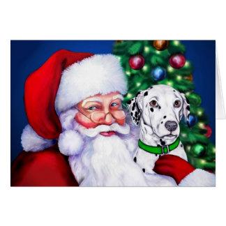 Santa's Dalmatian at Christmas Card