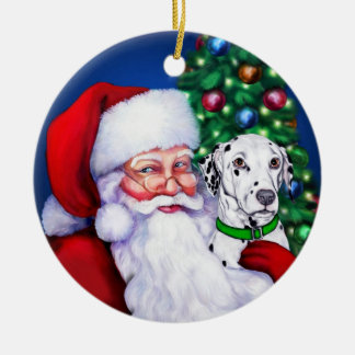 Santa's Dalmatian at Christmas Ornament