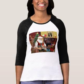 Santa's Dark Grey/Brown Italian Greyhound T-Shirt