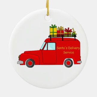 Santa's Delivery Service Christmas Ornament