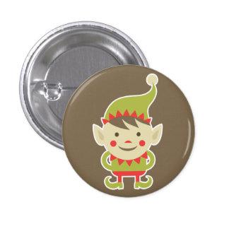 Santa's Elf 3 Cm Round Badge