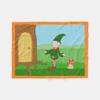 Santa's Elf Fleece Blanket