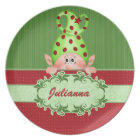 Santa's Elf Personalised Christmas Plate