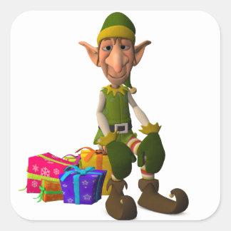 Santa's Elf Square Sticker