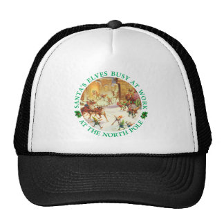 Santa's Elves and Reindeer at the North Pole Trucker Hat