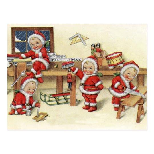 Santa's Elves Postcard